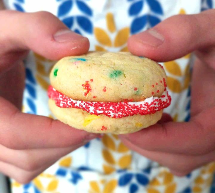 cake mix sandwich cookies
