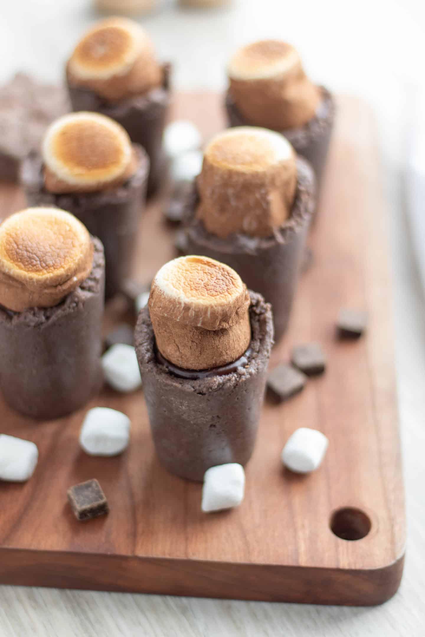 Delicious Bailey's smores dessert shots