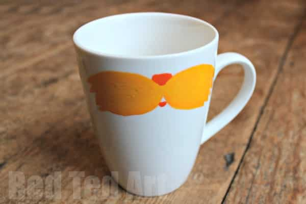 Moustache Crafts - Mug Gift for Dad by Red Ted Art