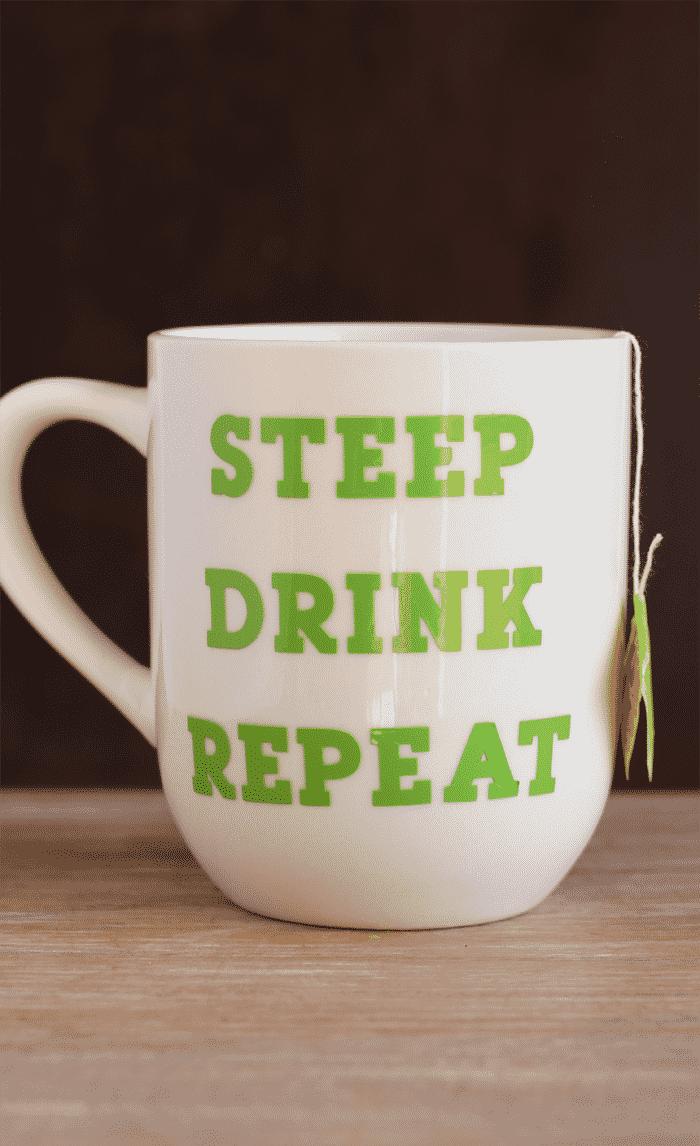 DIY Tea Lovers Mug by It Happens in a Blink