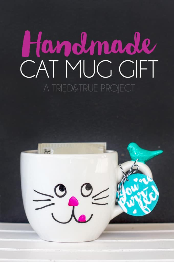 Handmade Cat Mug Gift by Tried & True