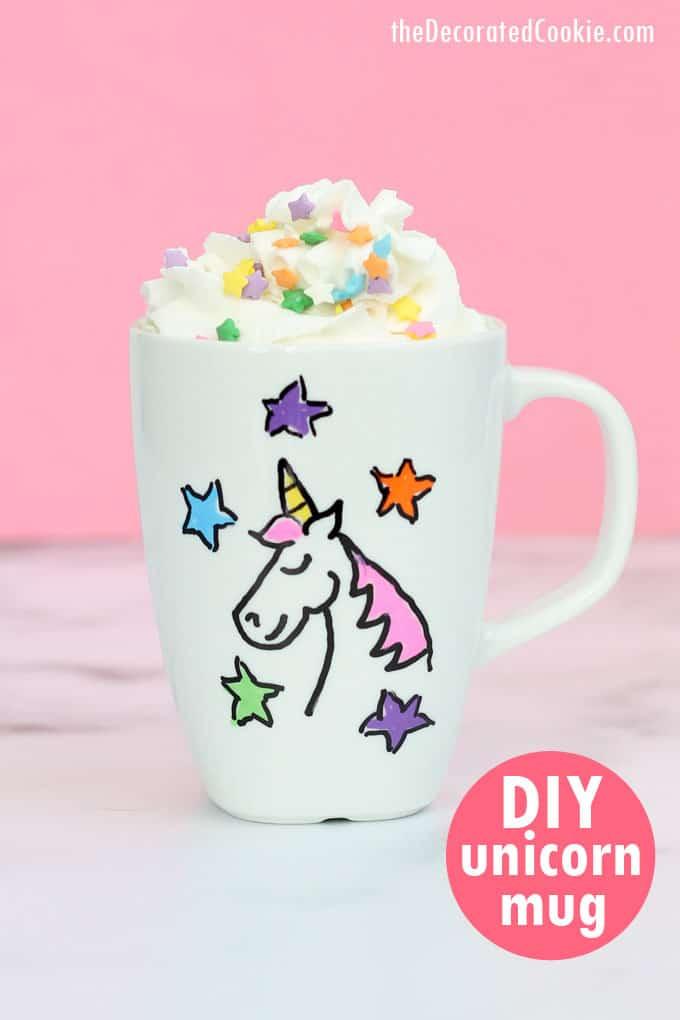 DIY Unicorn Mug by The Decorated Mug