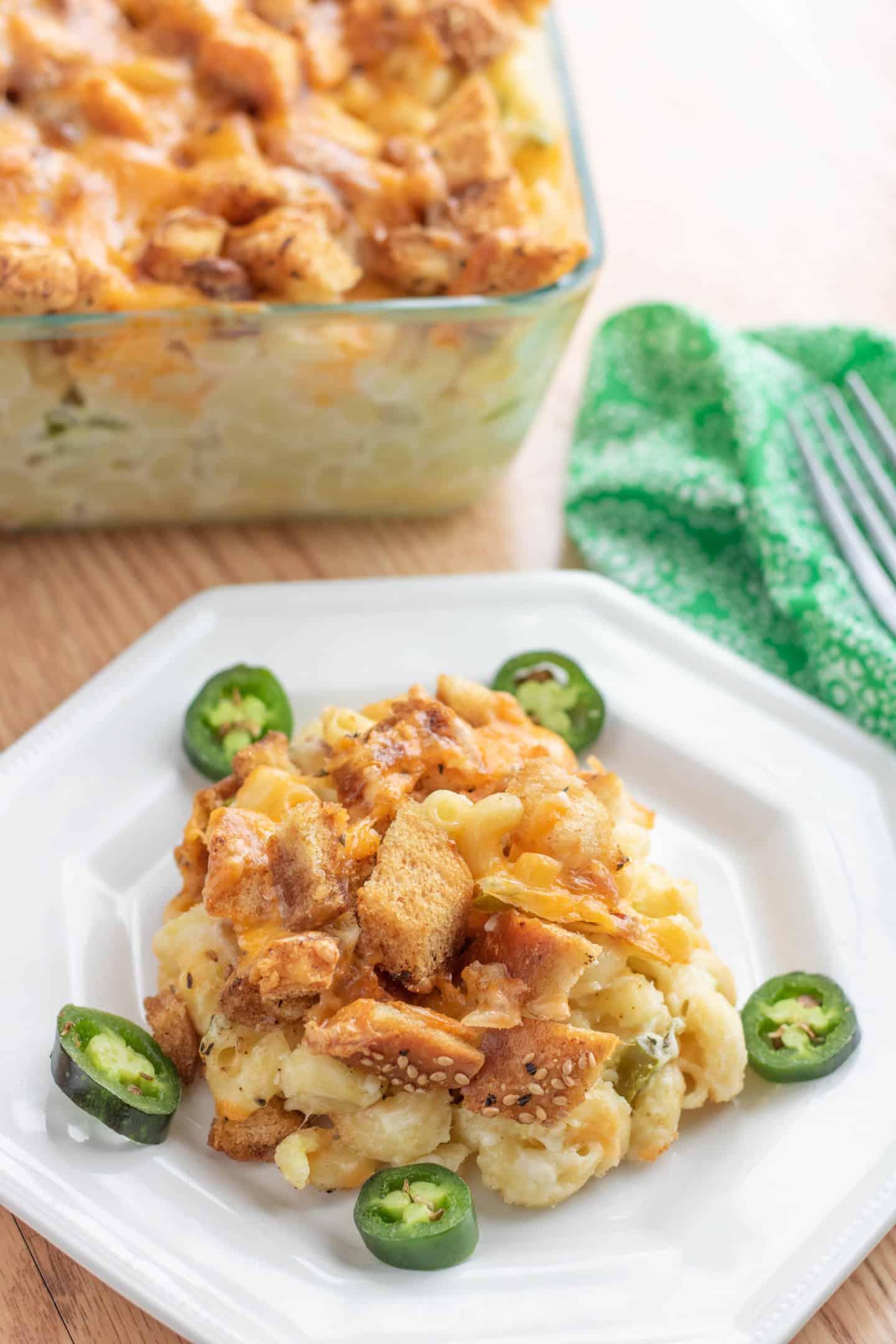 Jalapeno Popper Baked Macaroni & Cheese