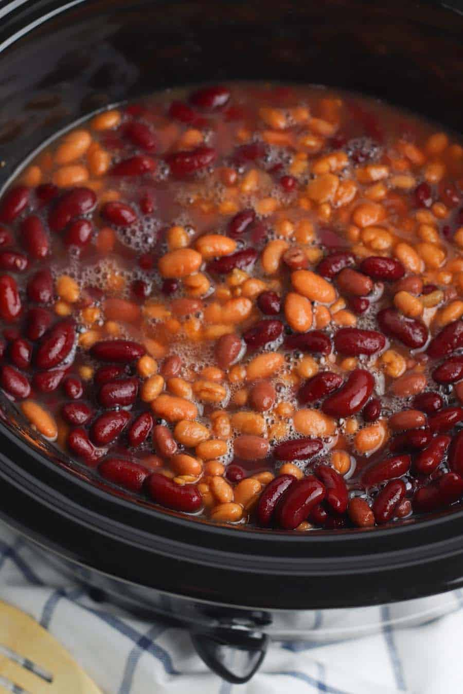 beans in the slowcooker