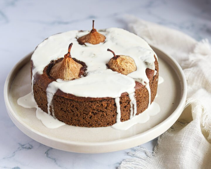 Gluten Free Spiced Pear Cake