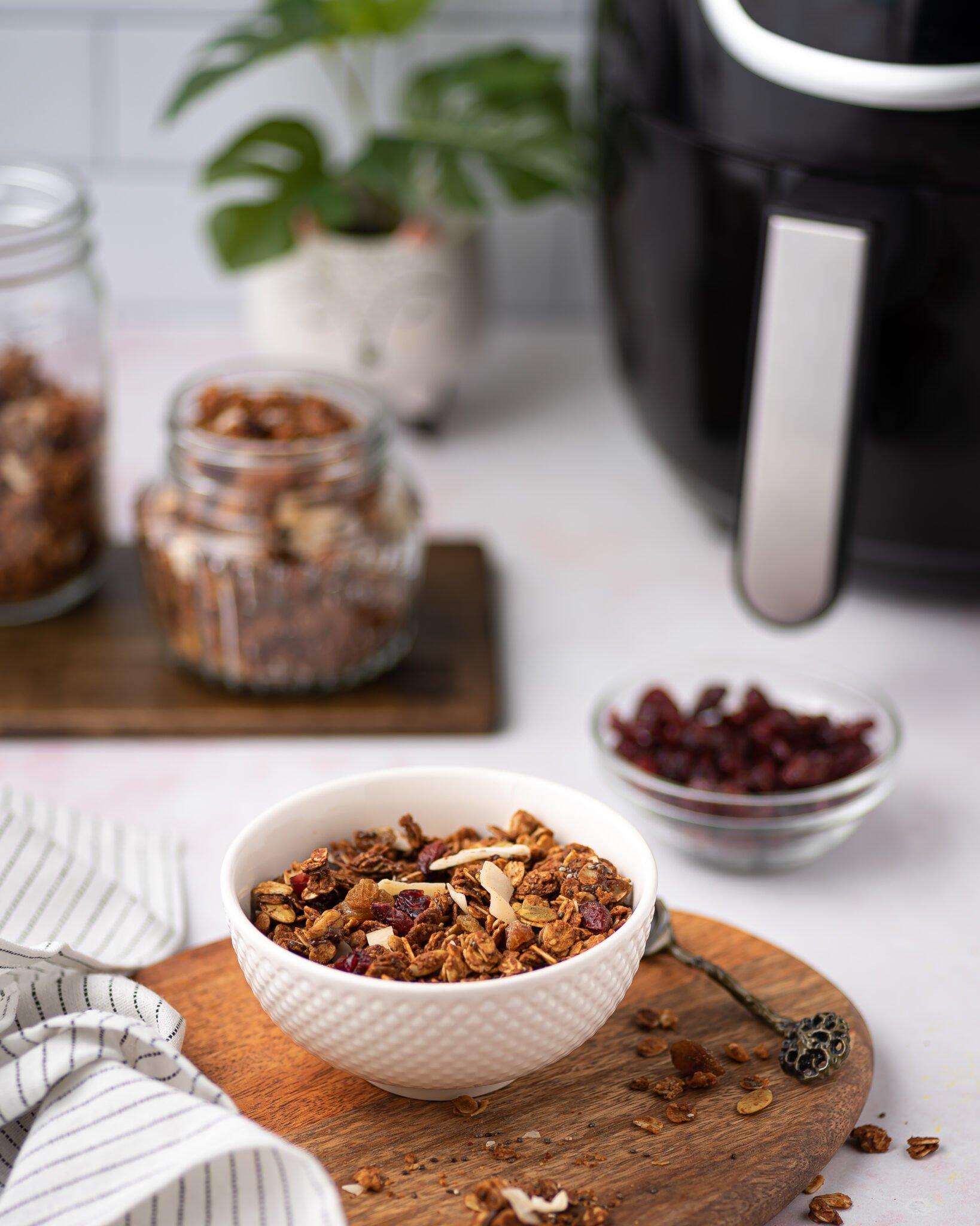 A bowl of homemade Air-Fryer granola