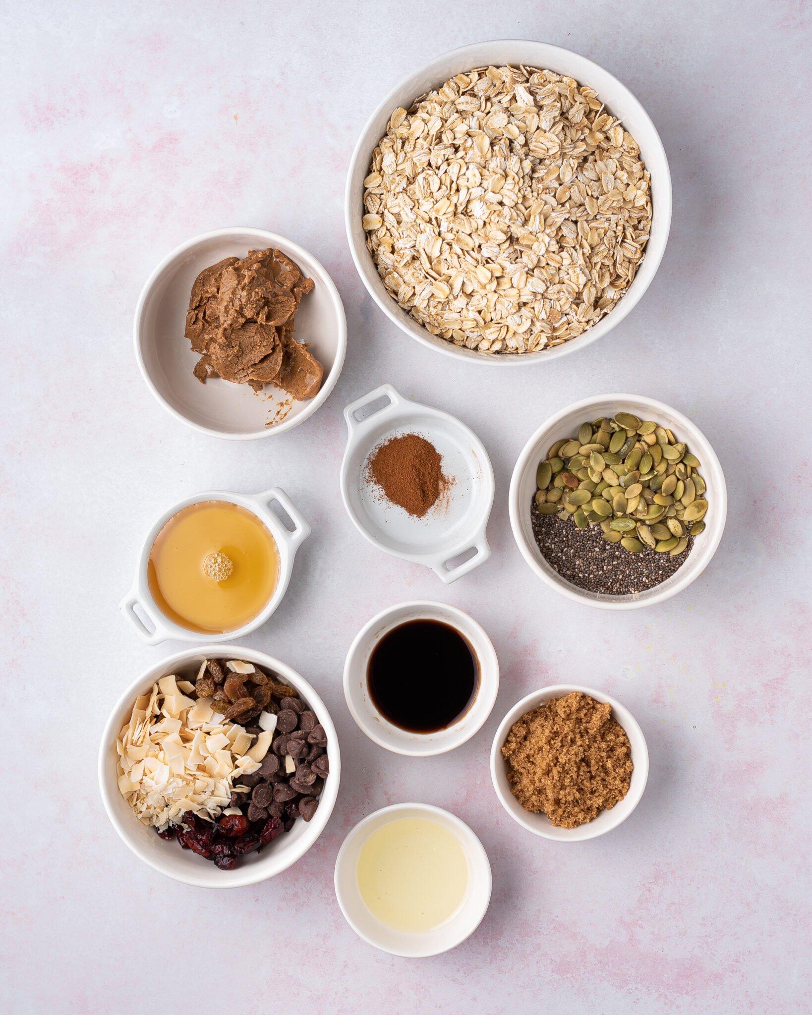 ingredients for Air-Fryer granola