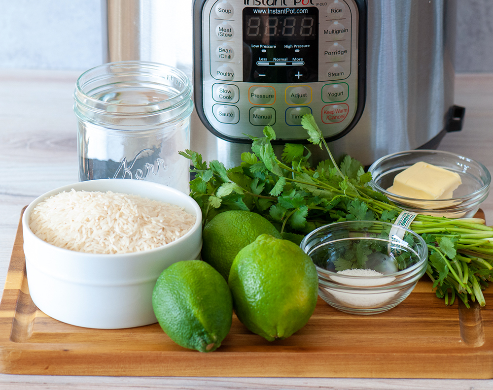 ingredients for instant pot cilantro lime rice