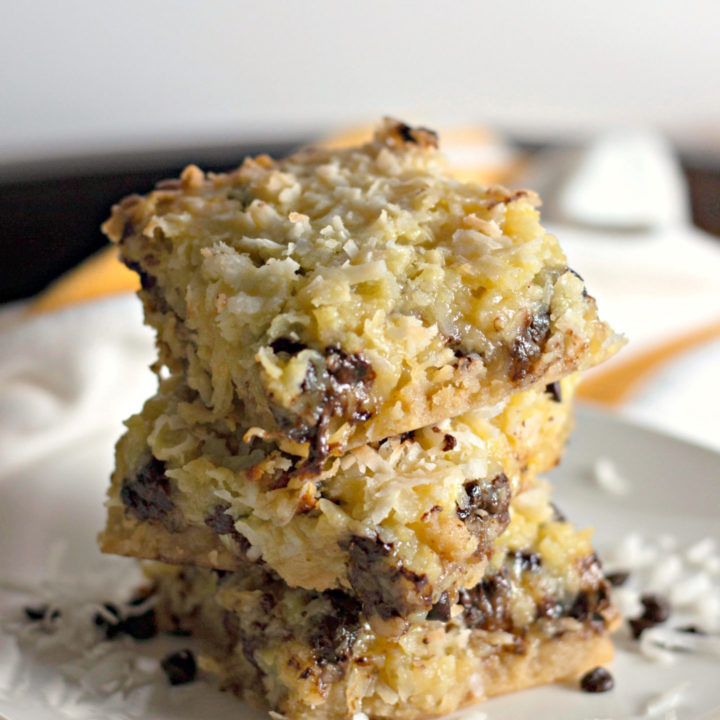 coconut butter bars with chocolate chips