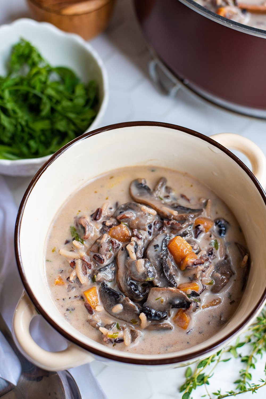 mushroom and rice soup