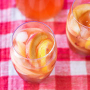 Peach Ginger Bourbon Fizz