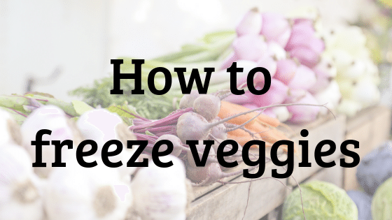 Janel Hutton from NellieBellie shows you how to freeze vegetables.