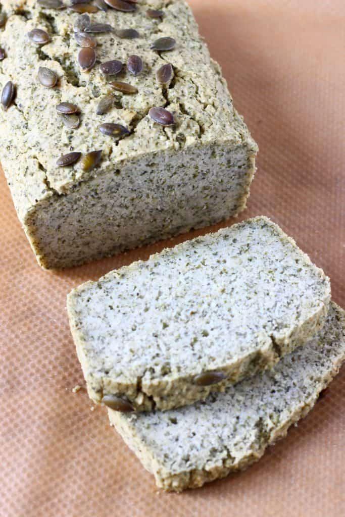 Vegan & Gluten free pumpkin bread, sliced