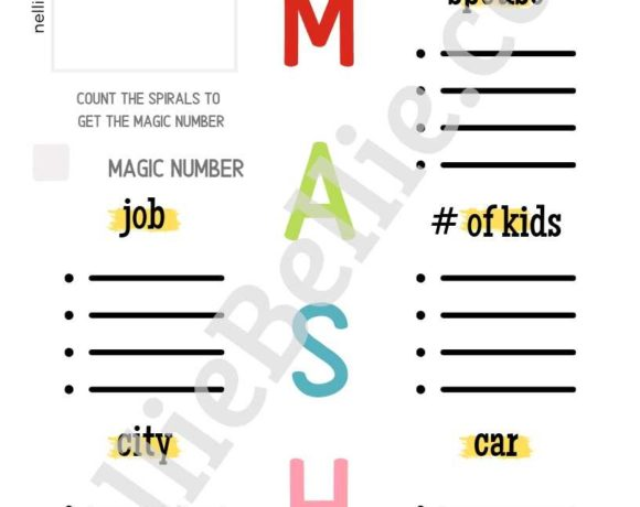 photograph relating to Mash Game Printable named cost-free printable Archives ⋆ NellieBellie