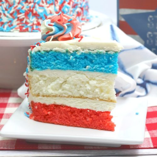 NellieBellie shows how to make a beautiful layered Red White and Blue Patriotic Cake