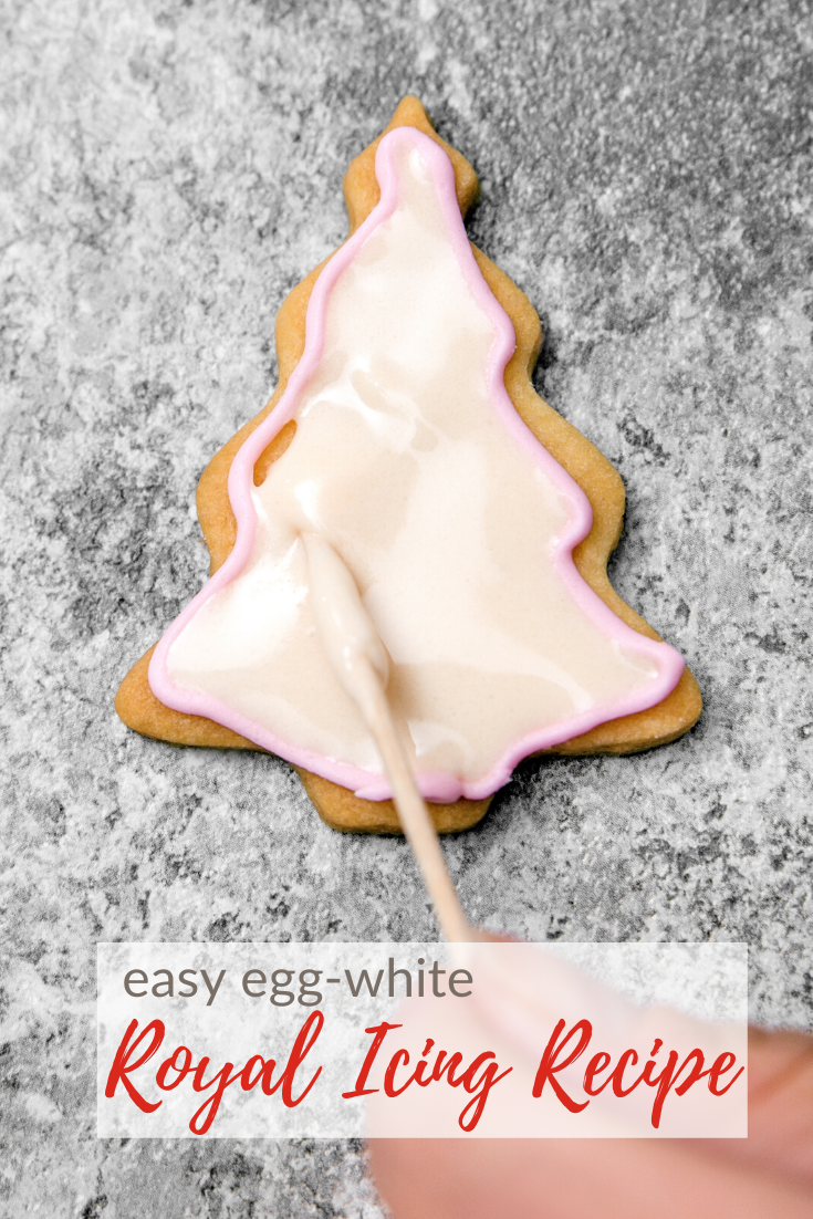 easy royal icing with egg-white instead of meringue powder