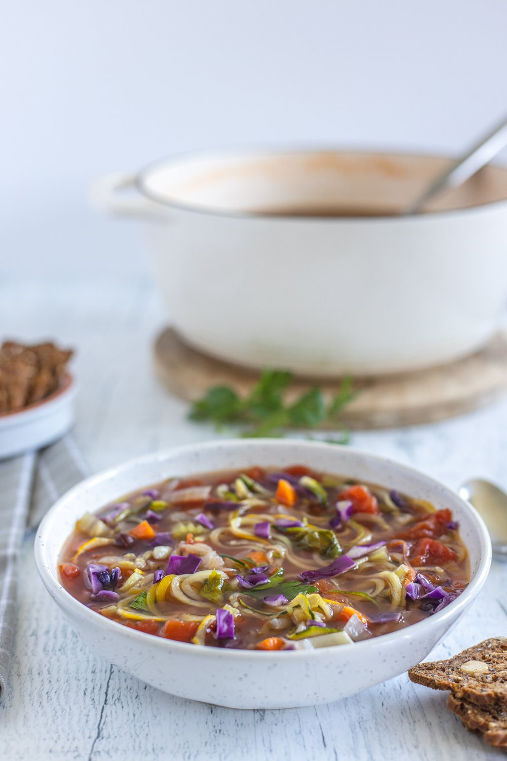 vegetable zoodle soup recipe