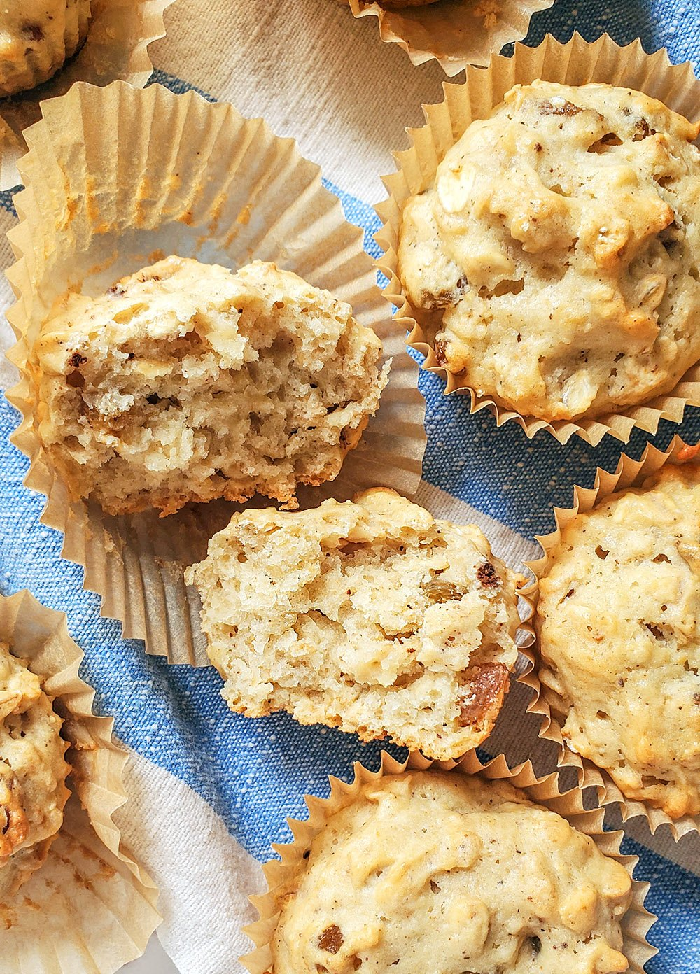 applesauce muffins with raisins and walnuts