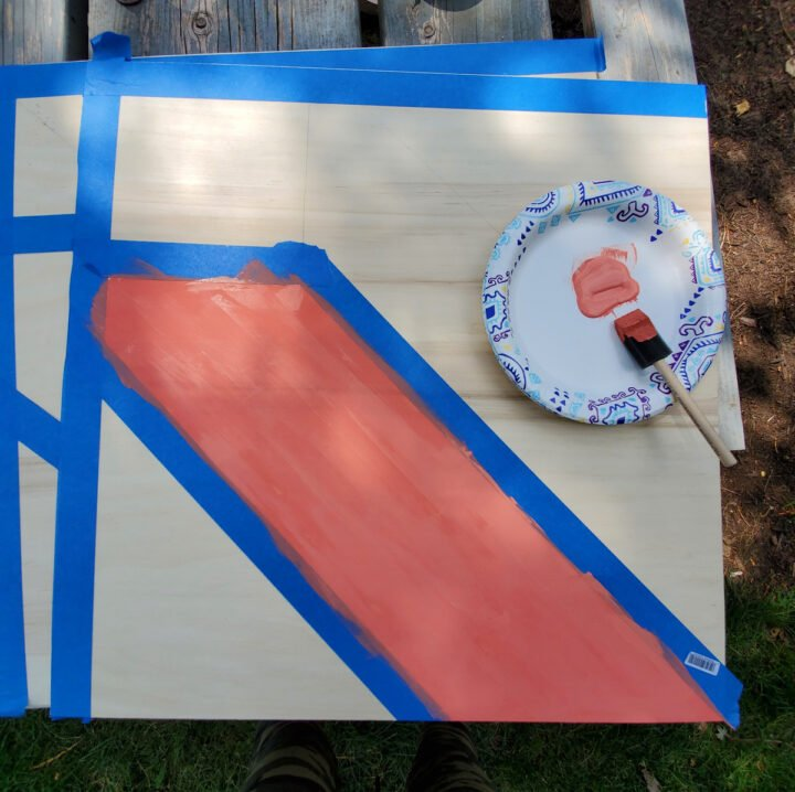 Step 1 for DIY barn quilt