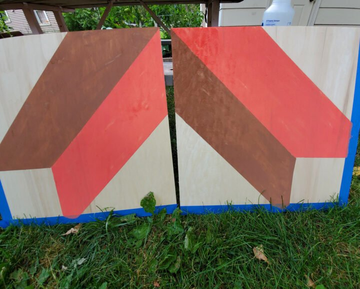 2 boards for diy barn quilt side by side