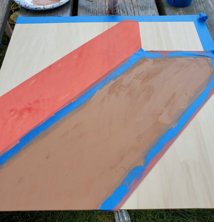 Step 2 for DIY barn quilt