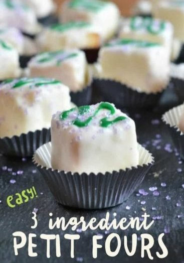 easy to make these 3 ingredient petit fours!