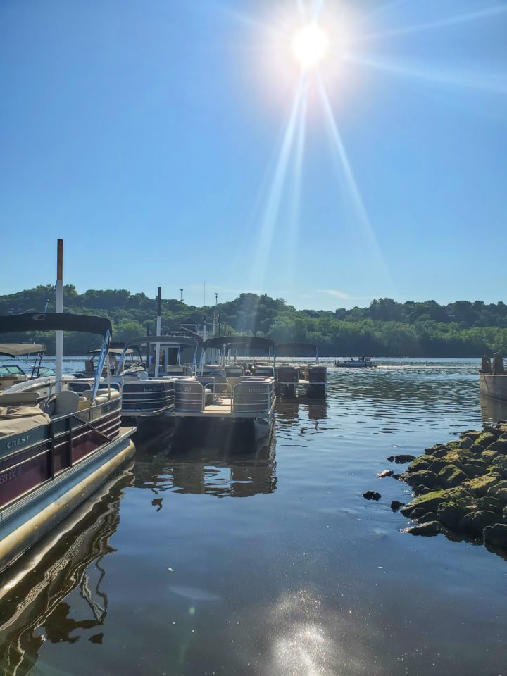 a sunny morning on the St. Croix River