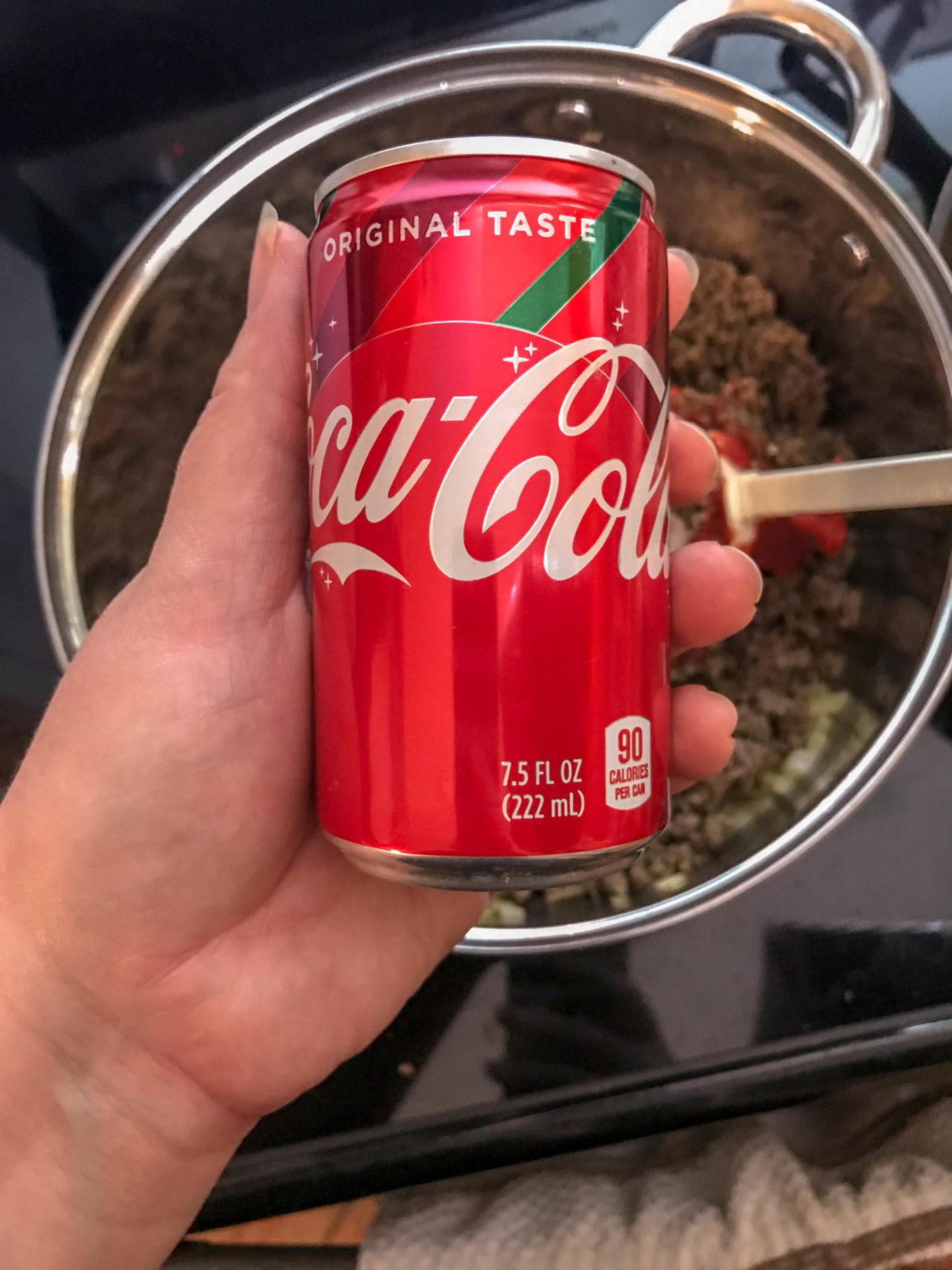 cocoa cola being used for sloppy joe mix