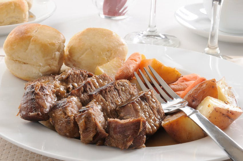 Slow cooker Pot Roast with dry onion soup mix
