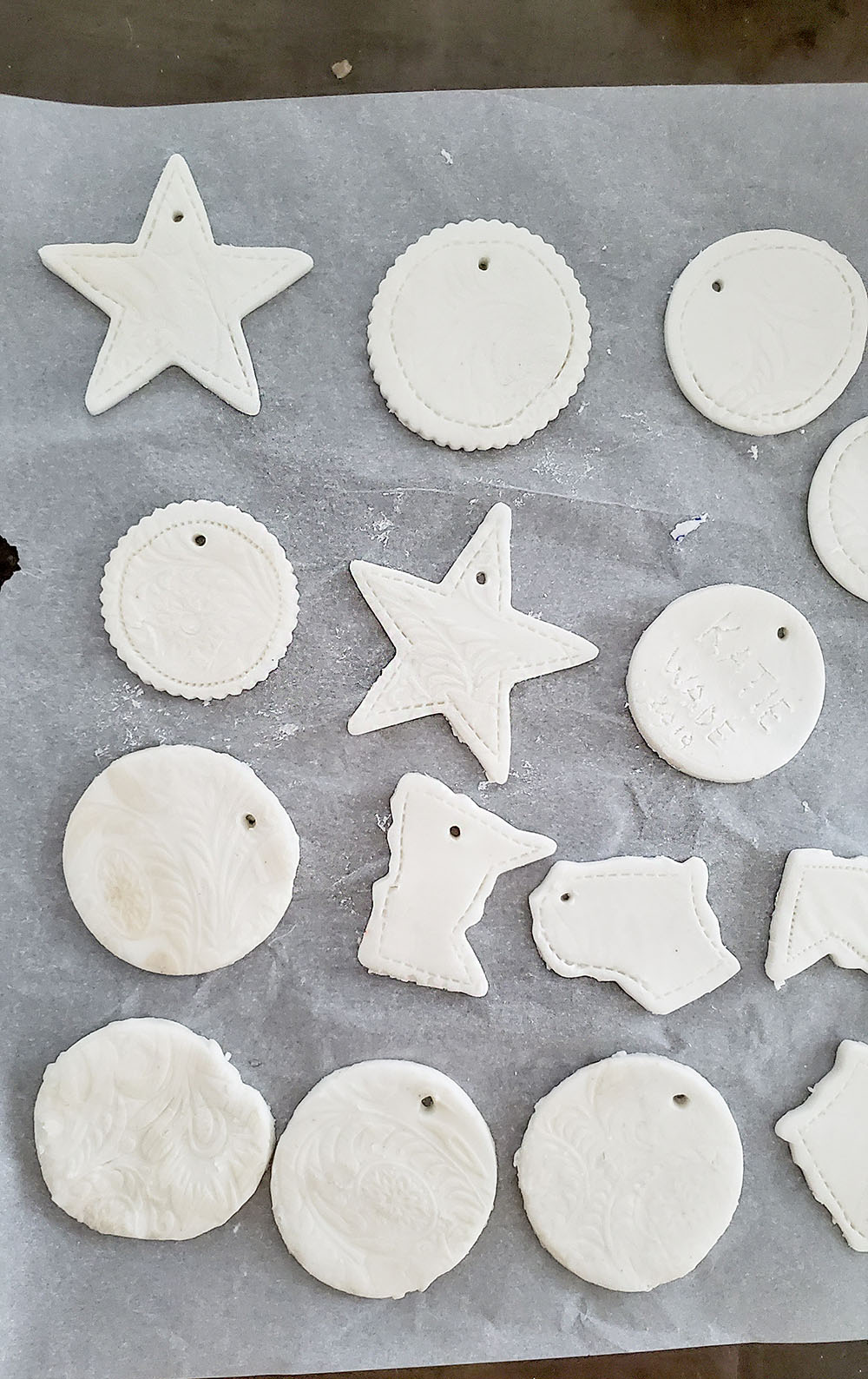 work with air dry clay in much the same way as you use sugar cookie dough