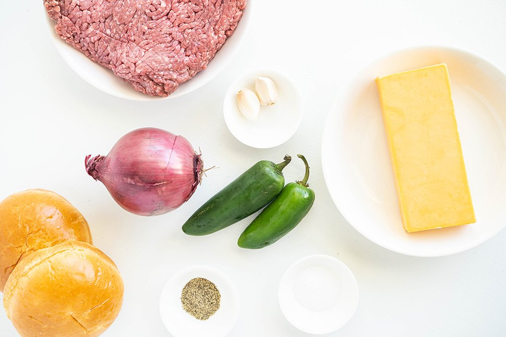 ingredients for jalapeno burgers