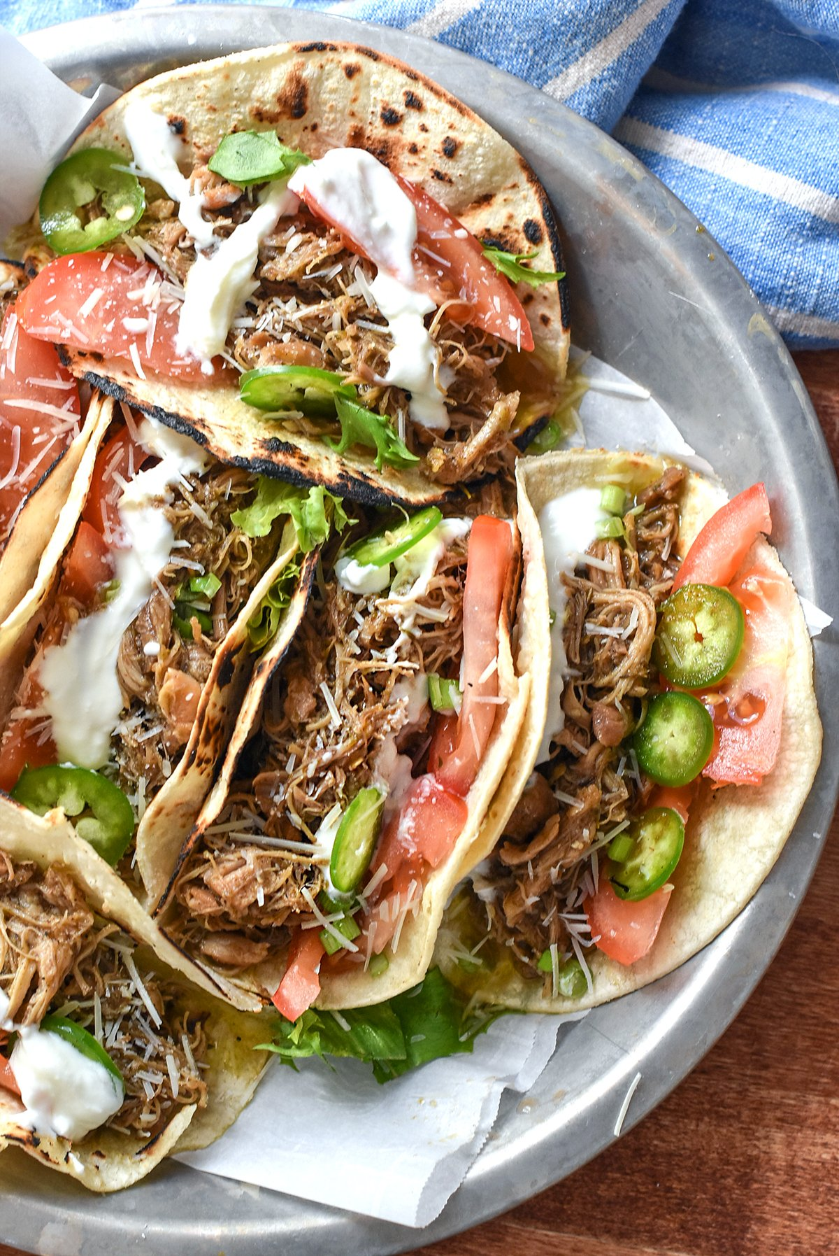 Instant Pot Jerk Chicken Tacos