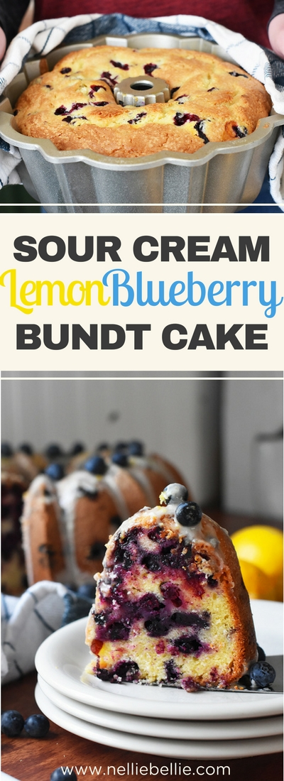 An easy and delicious lemon blueberry bundt cake. This cake is buttery and delicious, very close to a lemon blueberry pound cake. #lemonblueberry #poundcake #bundtcake
