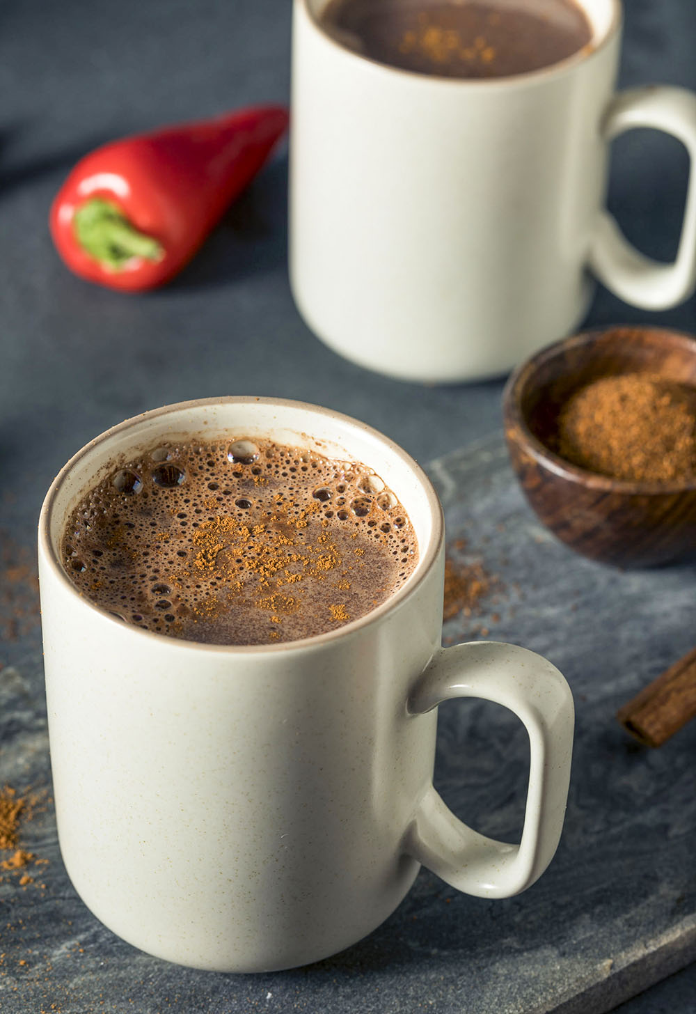 Mexican Coffee with simple ingredients of cinnamon, coffee, and sugar. Add chili powder for more kick!