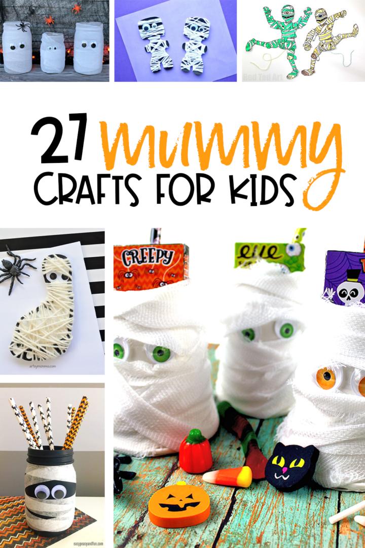 Halloween Crafts for kids featuring mummies!