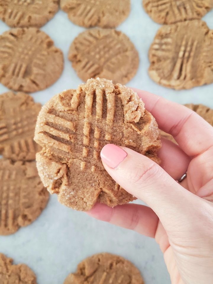 Old-fashioned peanut butter cookies easy for kids to make!