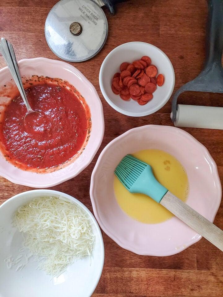 Ingredients for Pizza Bites
