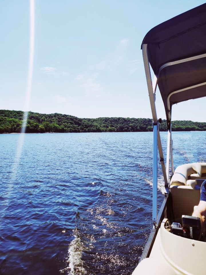 St. Croix River from a pontoon