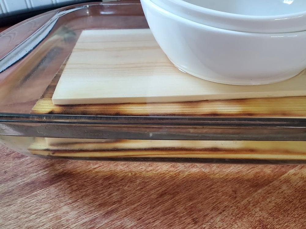 Cedar planks getting a good soaking.