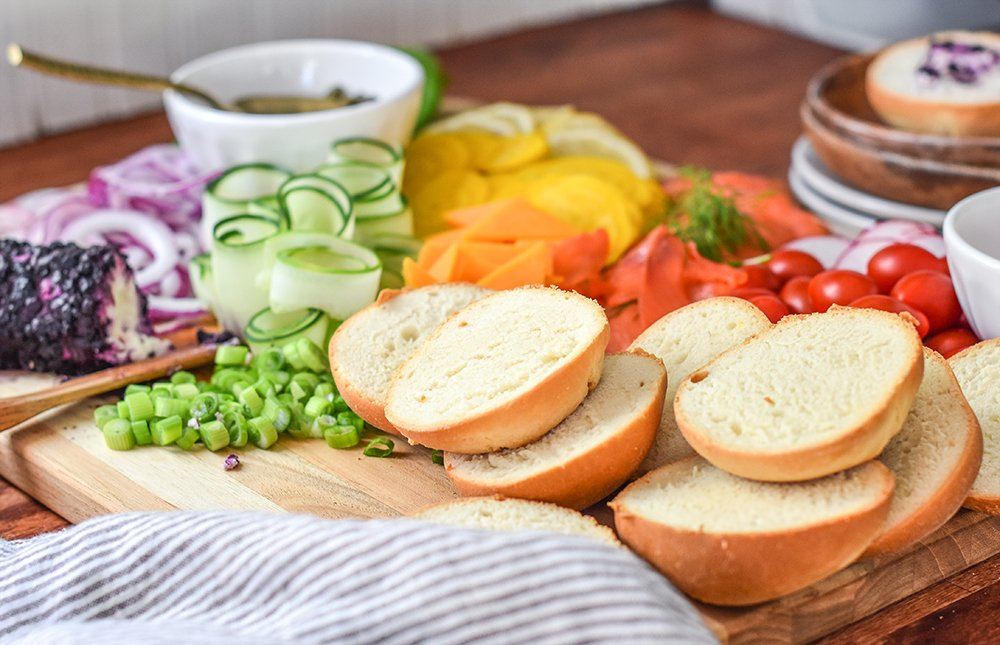 Brunch Charcuterie Board featuring Rhodes bread