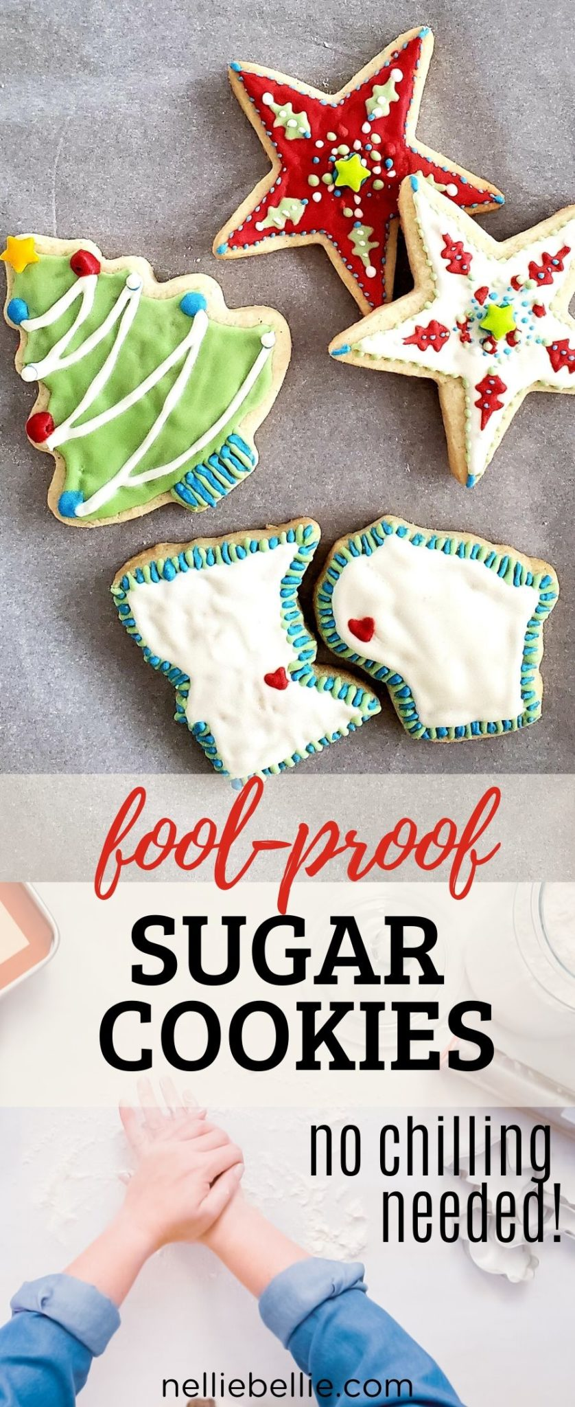 Great for decorated Christmas cookies! Easy cut-out sugar cookies recipe. Best to use with my easy royal icing. Great recipe to use with a gluten-free flour! #cookies #sugar #easy #cut-out