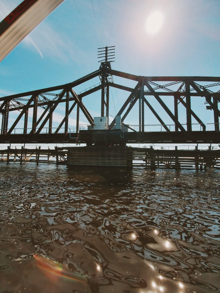 swing bridge on the St. Croix River